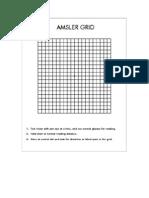 Amsler's Grid