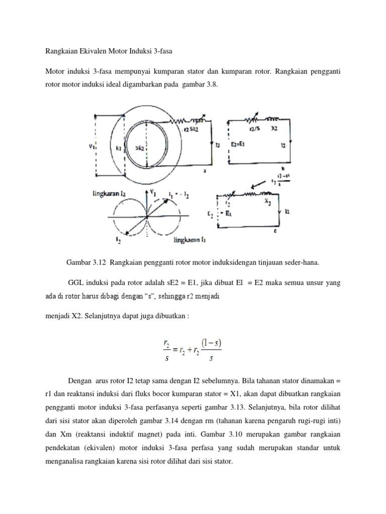 Rangkaian Ekivalen Motor Induksi 3