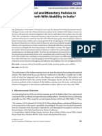 The Role of Fiscal and Monetary Policies in Sustaining Growth With Stability in India