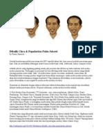 Dibalik Citra & Popularitas Palsu Jokowi