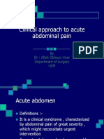 Clinical Approach to Acute Abdominal Pain