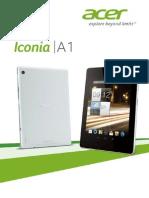 Acer Iconia A1 Handleiding