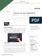¿Qué es un MOOC_