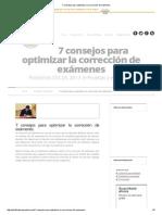 7 consejos para optimizar la corrección de exámenes