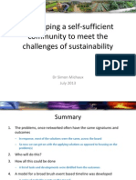 Developing a self-sufficient  community to meet the challenges of sustainability