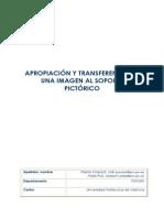 Apropiación y transferencia de una imagen al soporte pictórico