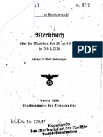 """""""M.Dv.170/47"""" Merkbuch über Munition der 28 cm SKC/34 in Drh LC/28"""