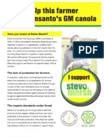 Help this farmer stop Monsanto's GM canola (Steve Marsh)