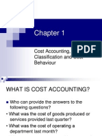 1. Types of Cost and Classification