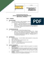 Wildeck MECH STRD Guide Spec