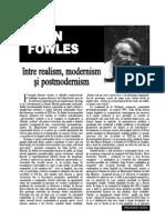 John Fowles - Intre Realism Modernism Si Postmodernis