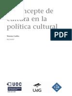 Concepto Cultura en Politica Cultural