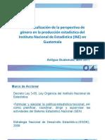 04. INE Guatemala 2011 Transversalizacion de La Perspectiva de Genero en La Produccion Estadistica