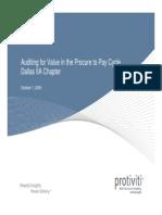 Procurement to PAY Audit by Protiviti