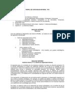 Perfil de Capacidad Interna - PCI