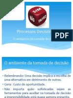 Processos decisórios - Aula 01