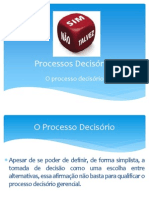 Processos decisórios - Aula 02