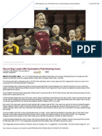 Record Day Leads CMU Gymnastics Past Bowling Green - CMUChippewas.com—Official Web Site of Central Michigan University Athletics