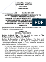 i. a. Ra 8371 the Indigenous Peoples Rights Act of 1997