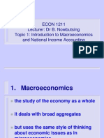 Introduction to Macroeconomics and National Income Accounting - Topic 1