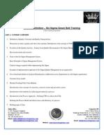 Six Sigma Training Schedule