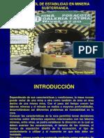 Contro de Estabilidad en Mineria Subterranea