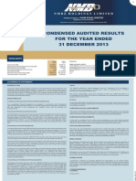 NMB Audited Results for FY Ended 31 Dec 13