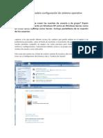Actividades sobre configuración de sistema operativo