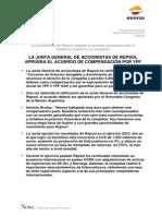 Repsol aprobó el acuerdo de compensación por YPF