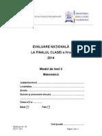 Matematica-Model de Test Pentru Clasa a IV-A