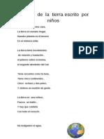 Poema   de  la  tierra escrito  por  niños