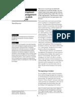 Personal Development to Improve Management Performance