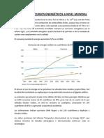 Consumo y recursos energéticos a nivel mundial