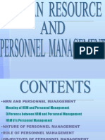 HRM vs.personnel Mgt.