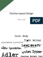 Pre Production Plan Fanzine