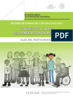 El Derecho a La No Discriminacion