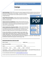 computer camp content for brochure and website