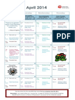 Jessie's - April 2014 Calendar
