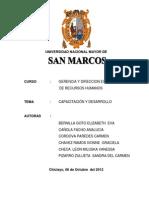 Monografia Capacitacion y Desarrollo (Administracion)