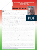Re-elect Mark Evans to Unison SGE