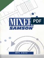 Samson MPL2224 Mixer Manual