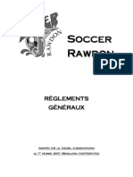 RÈGLEMENTS GÉNÉRAUX CLUB DE SOCCER RAWDON