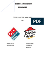 42978212 Pizza Hut and Dominos a Comparative Analysis