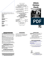 March 23, 2014 Trifold Bulletin