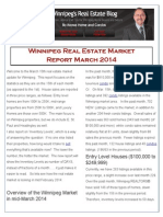 Winnipeg Real Estate Market report for March 2014