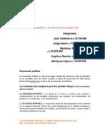 La economía politica y las fuerza de producción