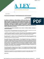 POLICÍA DE ESTRADOS Y RESPONSABILIDAD DISCIPLINARIA (VER DIALNET)