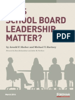 Does School Board Leadership Matter?