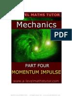 E-Book,Momentum & Impulse,mechanics revision notes from A-level Maths Tutor