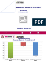Encuesta Transporte Público Dane 2012